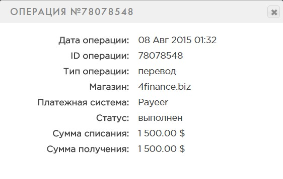 депозит 4ffinance