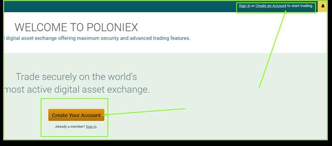 Как создать кошелек на poloniex