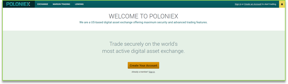 Официальный сайт биржи Poloniex
