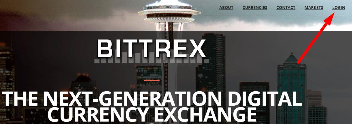 Вход в Bittrex